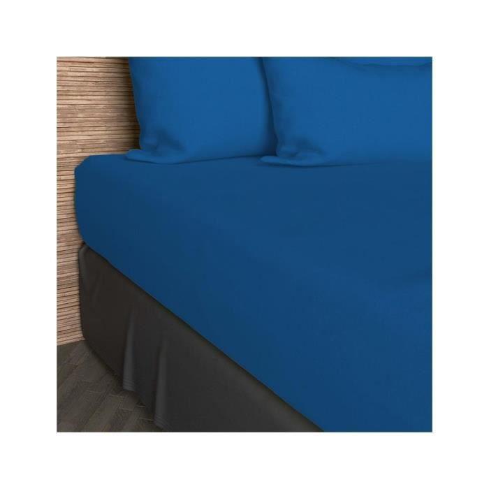 drap housse uni jersey 160x200cm turquoise achat vente drap housse cdiscount. Black Bedroom Furniture Sets. Home Design Ideas