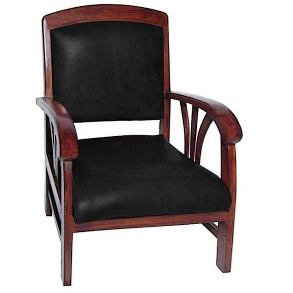Fauteuil design colonial sedan teck cuir achat vente fauteuil mati - Fauteuil colonial maison du monde ...