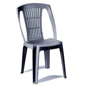Chaises empilables pas cher amazing agrable chaise style for Fauteuil jardin plastique gris