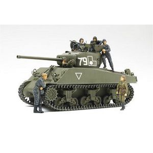 FIGURINE - PERSONNAGE M4A2(76)W Sherman - Red Army (w/6 Figures)