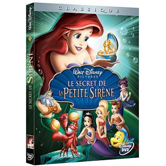 Dvd la petite sirene 3 le secret de la petite en dvd dessin anim pas cher holmes peggy - Le secret des sirene ...