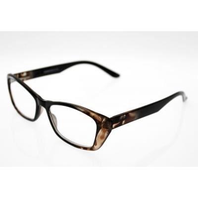 lunettes pre montees loupe avec etui souple er4 noir marron achat vente lunettes de. Black Bedroom Furniture Sets. Home Design Ideas