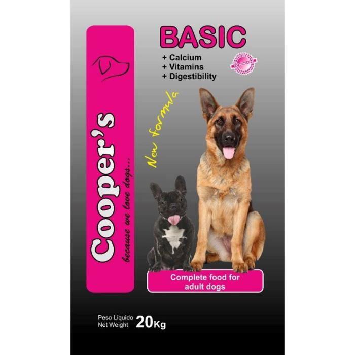 croquettes pour chien cooper 39 s basic 20kg cooper 39 s basic est un aliment complet pour chien. Black Bedroom Furniture Sets. Home Design Ideas