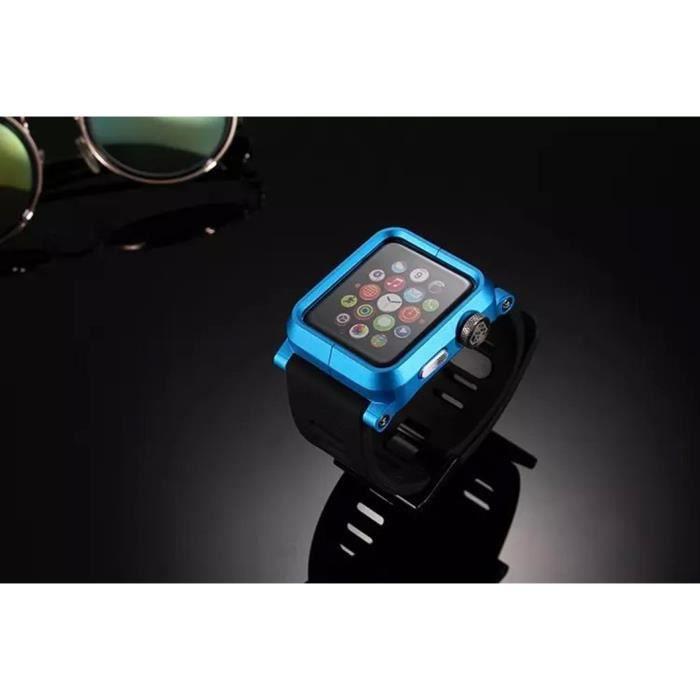 coque apple watch 38mm lunatik bleu achat accessoires montres co pas cher avis et meilleur. Black Bedroom Furniture Sets. Home Design Ideas
