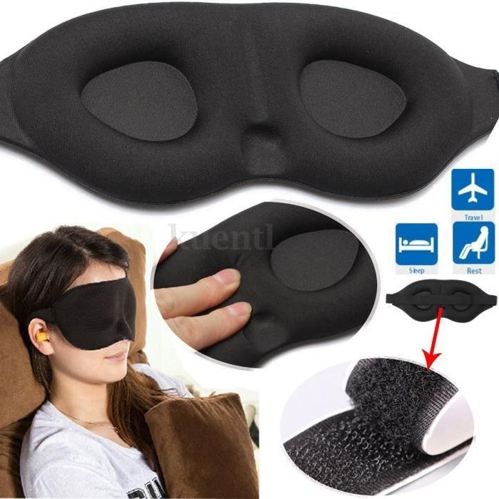 masque de nuit sommeil cache yeux bandeau relaxation. Black Bedroom Furniture Sets. Home Design Ideas