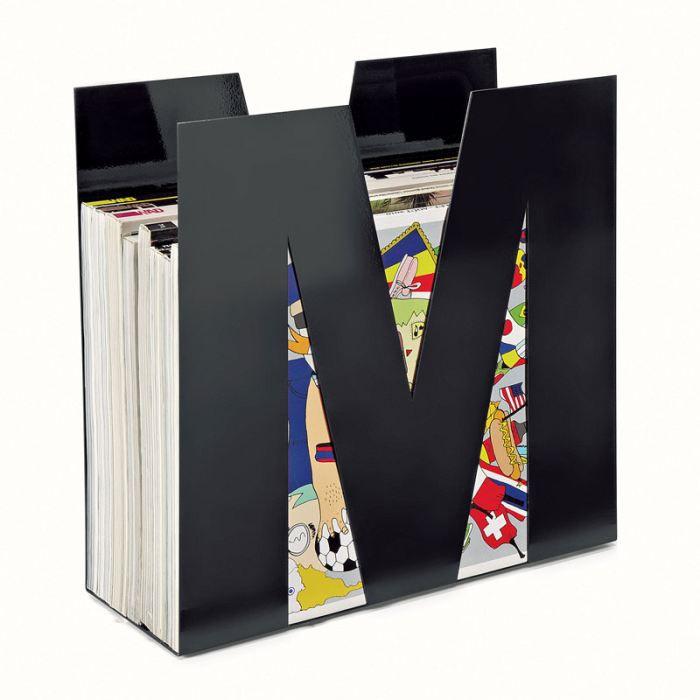 Porte revues en m tal noir forme m de115n achat vente for Porte 1 3 2 3