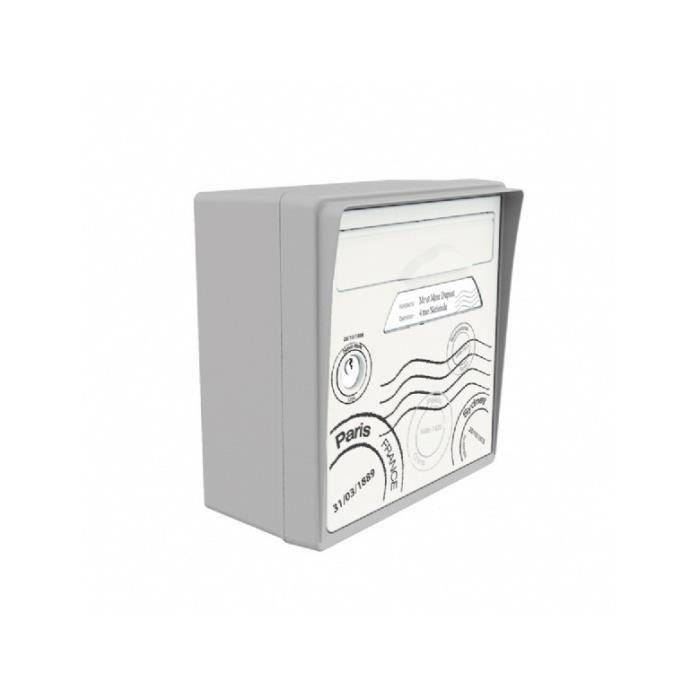 boite aux lettres murale grise globe trotter achat vente boite aux lettres cdiscount. Black Bedroom Furniture Sets. Home Design Ideas