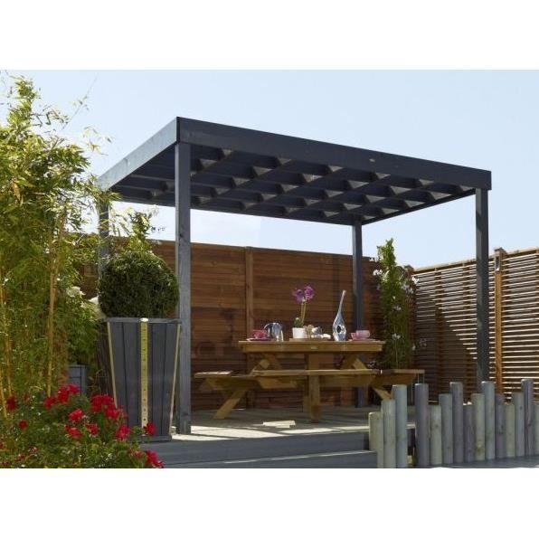 pergola esterel 3 x 2 5 m achat vente pergola pergola. Black Bedroom Furniture Sets. Home Design Ideas