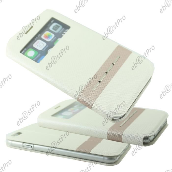 Ebeststar housse view blanc apple iphone 6 plus 5 5 for Housse iphone 6 s plus