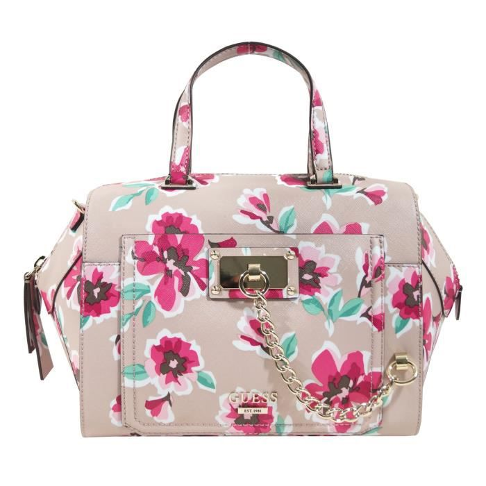 Sac Guess Rose Nouvelle Collection : Sac bowling guess forget me not vg rose achat