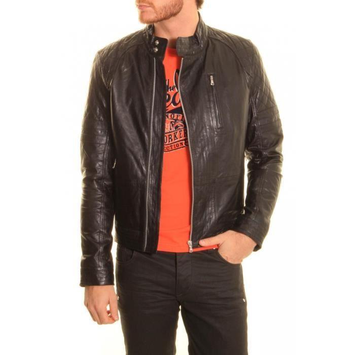 veste en cuir redskins prato cho noir achat vente veste veste en cuir redskins prat. Black Bedroom Furniture Sets. Home Design Ideas