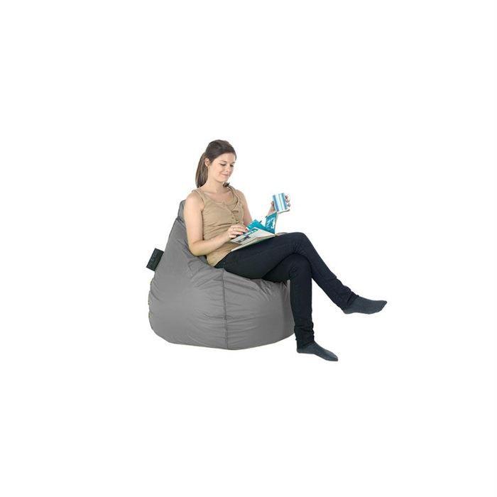 pouf poire gris in out achat vente pouf poire. Black Bedroom Furniture Sets. Home Design Ideas