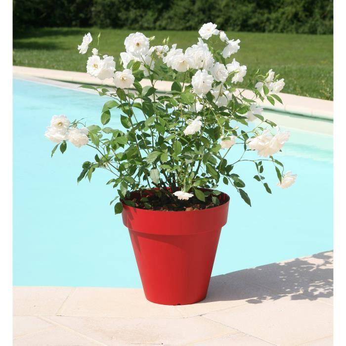 RIVIERA Pot SOLEILLA diamètre 60 cm rouge Achat / Vente jardinière