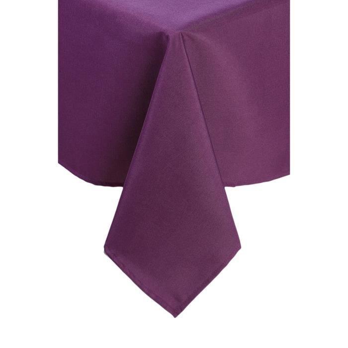 nappe rectangle anti taches violette achat vente nappe de table cdiscount. Black Bedroom Furniture Sets. Home Design Ideas