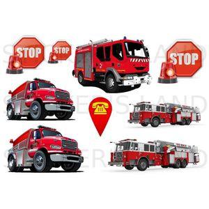 stickers pompier achat vente stickers pompier pas cher cdiscount. Black Bedroom Furniture Sets. Home Design Ideas