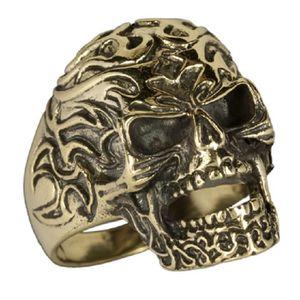 Boucle d'oreille Bague skull bronze taille 70