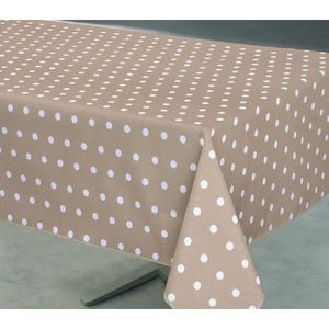 Nappe Anti-Tache Rectang. POIS TAUPE 140x240cm