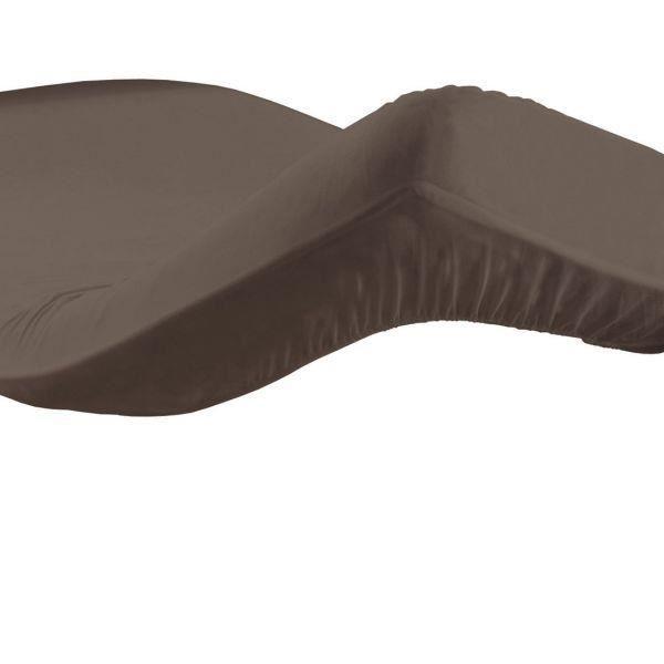 Drap housse 180x200 cm 100 coton 57 fils noisette gamme for Drap housse 180x200