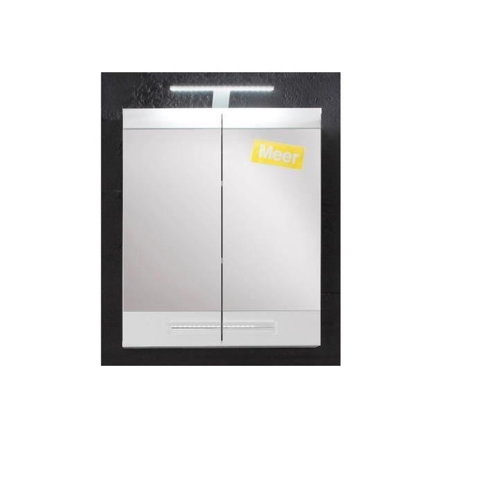armoire murale de salle de bain blanc 71cm achat vente. Black Bedroom Furniture Sets. Home Design Ideas
