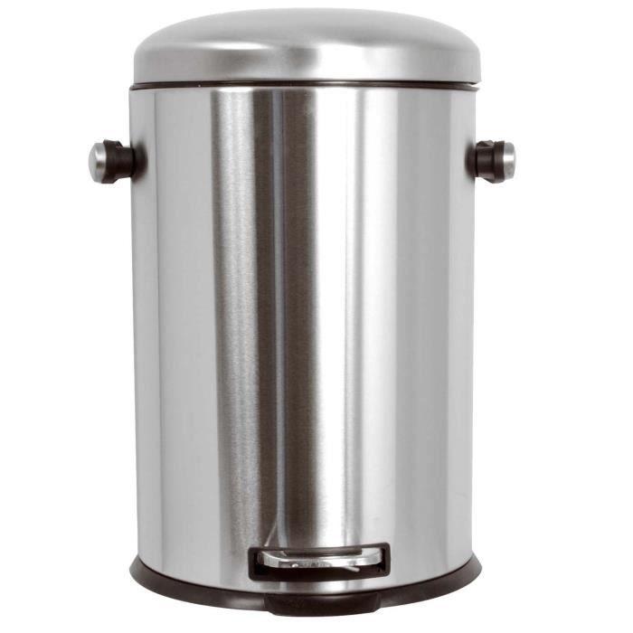 frandis poubelle frein de chute 20l inox bross achat vente poubelle corbeille poubelle. Black Bedroom Furniture Sets. Home Design Ideas