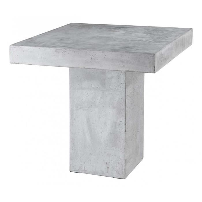 Table repas b ton 80 x 80 cm rock inwood achat vente for Table cuisine 110 x 80