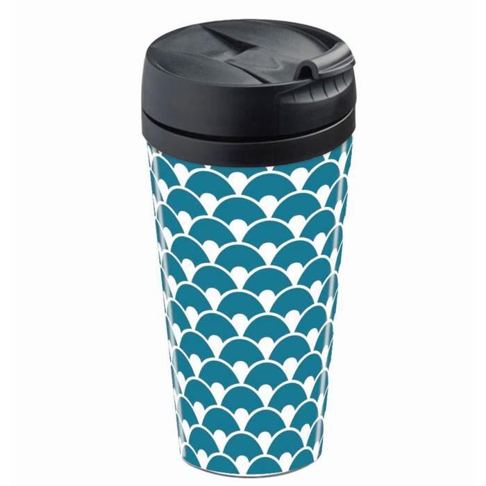 mug de voyage isotherme ecailles bleu achat vente bol mug mazagran cdiscount. Black Bedroom Furniture Sets. Home Design Ideas