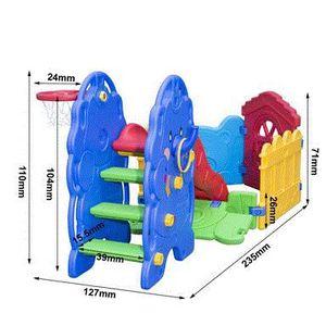 aire de jeux avec parc et toboggan bleu vert jaune rouge bleu achat vente tapis veil. Black Bedroom Furniture Sets. Home Design Ideas