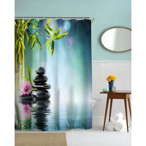 rideau de douche zen achat vente rideau de douche zen pas cher cdiscount. Black Bedroom Furniture Sets. Home Design Ideas