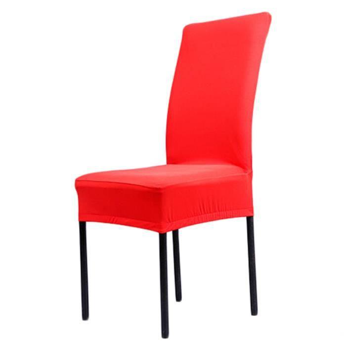 Housse de chaise de salle manger couleur unie polyester for Chaise de couleur