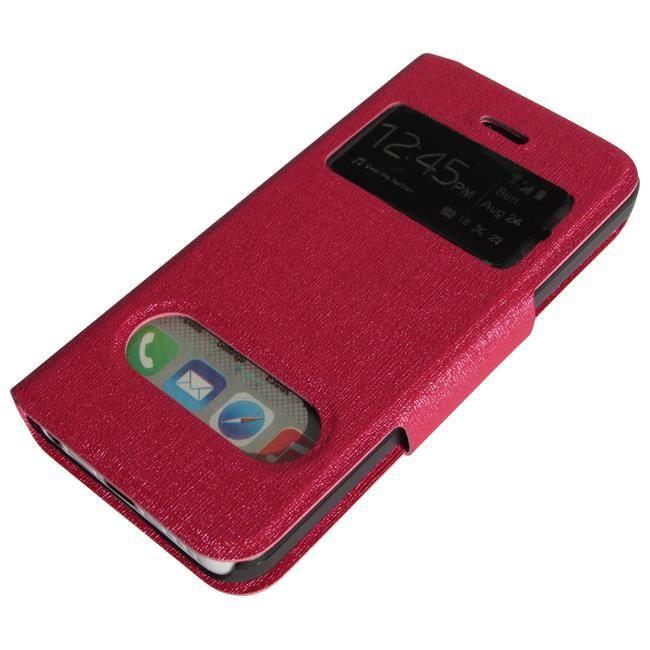 Housse etui iphone 5c rose folio fen tre achat housse for Fenetre zoom iphone x
