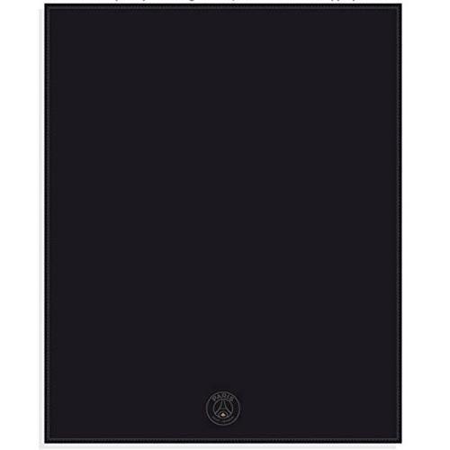 plaid polaire brod noir paris saint germain achat vente couverture plaid cdiscount. Black Bedroom Furniture Sets. Home Design Ideas