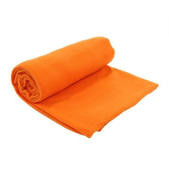 plaid polaire douillet orange achat vente couverture plaid cdiscount. Black Bedroom Furniture Sets. Home Design Ideas