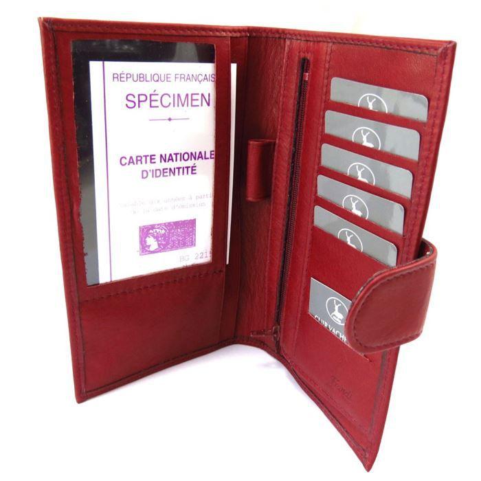 Porte ch quier cuir frandi bordeaux rouge achat vente porte ch quier 3609521140058 cdiscount for Achat porte interieur bordeaux