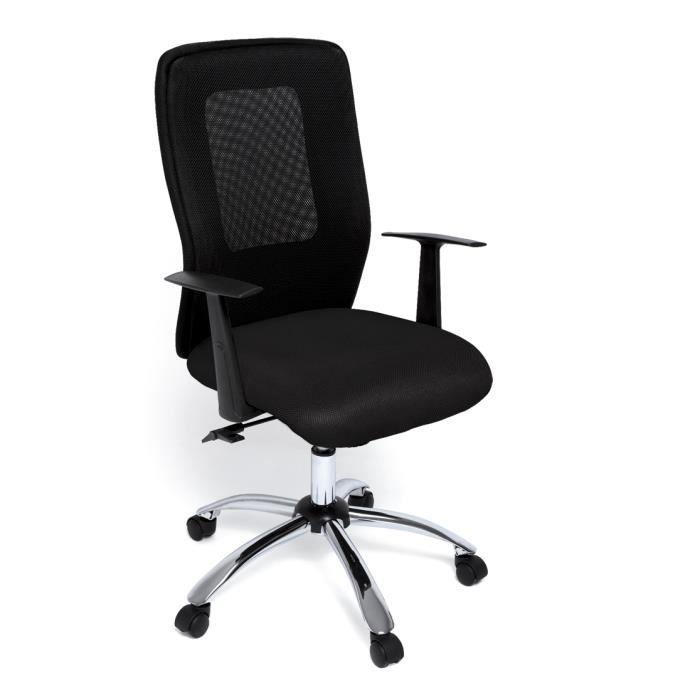 Chaise bureau en r sille et cuir noir avec roul achat - Chaise en cuir noir ...