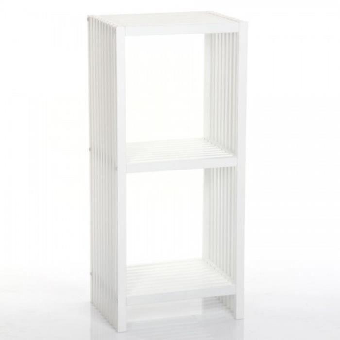 etag res en bois m lamin 2 cases en blanc h90 x p30 x l41cm achat vente etag re murale. Black Bedroom Furniture Sets. Home Design Ideas
