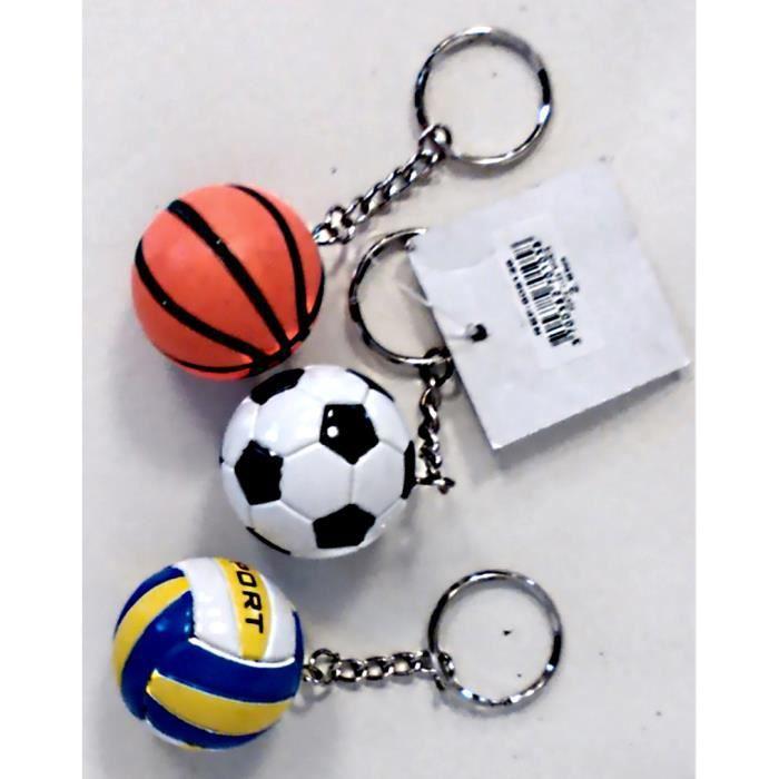un porte cles ballon de foot ou basket volley achat. Black Bedroom Furniture Sets. Home Design Ideas