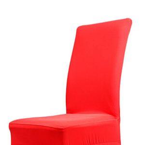 Housse de chaise rouge achat vente housse de chaise for Housse de chaise rouge pas cher