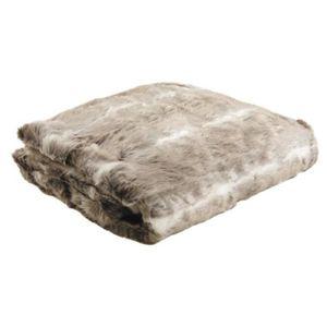 jete de lit fourrure achat vente jete de lit fourrure. Black Bedroom Furniture Sets. Home Design Ideas