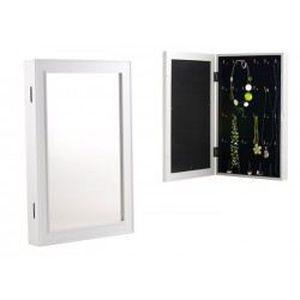 Miroir boite bijoux mural blanc achat vente boite a for Achat miroir mural