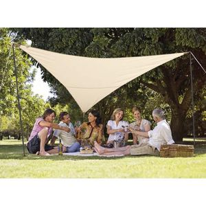 VOILE D'OMBRAGE Kit voile d'ombrage triang. 3,60 m sable - 185g/m²