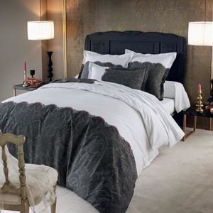 parrure de lit 260 240 achat vente parrure de lit 260 240 pas cher cdiscount. Black Bedroom Furniture Sets. Home Design Ideas