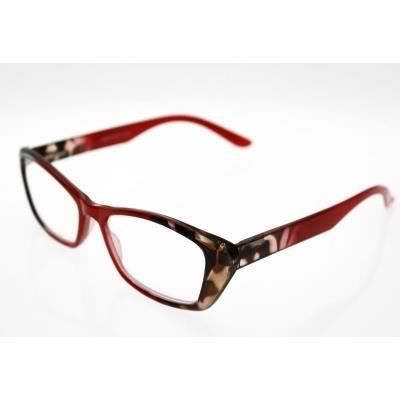 lunettes pre montees loupe avec etui souple er4 rouge marron achat vente lunettes de. Black Bedroom Furniture Sets. Home Design Ideas