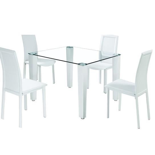 Table manger 4 chaises pure achat vente table a manger complet table - Table a manger 4 chaises ...