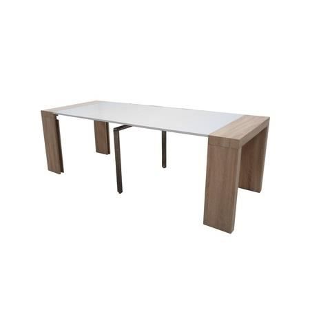 Table console extensible othello 4 allonges ch ne clair 2m25 achat vent - Console extensible chene ...