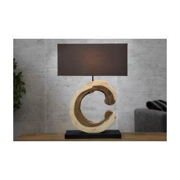 Lampe de table bois flott agata achat vente lampe de for Lampe bois flotte maison