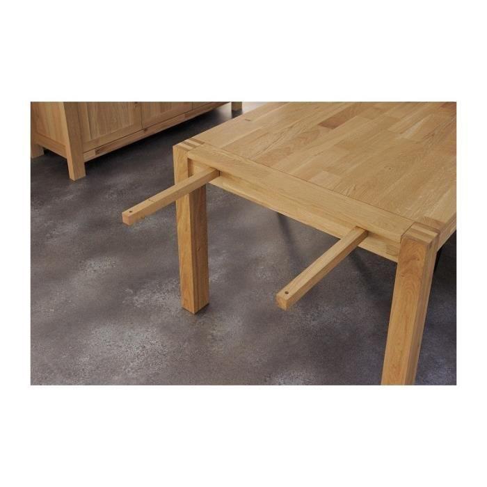 table allonge pour s jour ch ne naturel contemporain. Black Bedroom Furniture Sets. Home Design Ideas