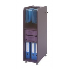 caisson de bureau 2 tiroirs 29 5 cm prune achat. Black Bedroom Furniture Sets. Home Design Ideas