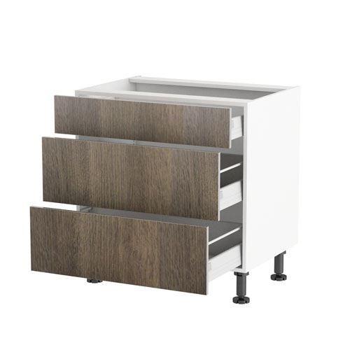Meuble cuisine bas 80cm 1 tiroir 2 casseroliers achat for Achat meuble cuisine