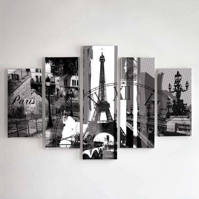 tableau d co multi panneaux 100x150 paris 2 achat. Black Bedroom Furniture Sets. Home Design Ideas