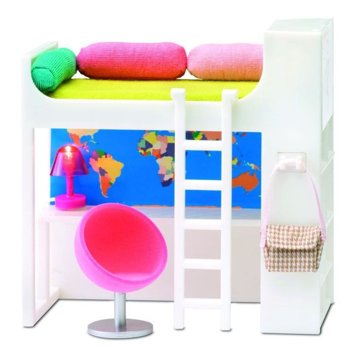 lundby ensemble mezzanine pour maison de poup es achat vente maison poup e soldes. Black Bedroom Furniture Sets. Home Design Ideas